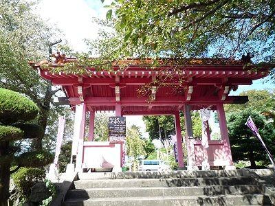 ピンクの山門
