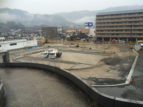 府中道の駅建設中