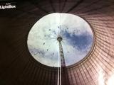 110621内側から見たメリーゴーラウンド