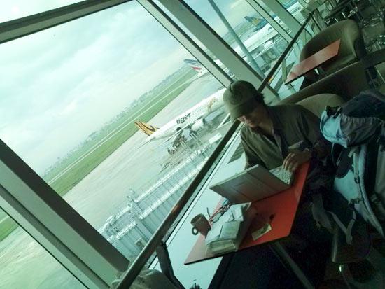 ベトナムの空港カフェ