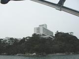 鳥羽国際ホテルを海から見たところ