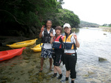 屋久島でシーカヤックを楽しみました