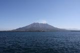 鹿児島港から見る桜島