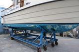 ボロボロの船底塗装