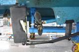 塗装が落ちた舵