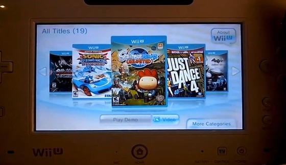「Wii U」の メニューシステム動画が公開