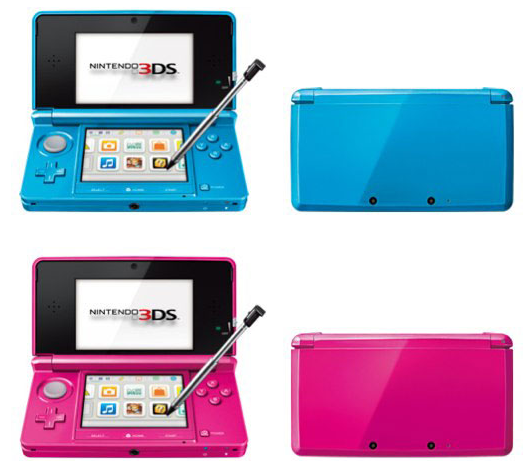 3DS新色・「晴空藍(セルリアンブルー)」「珠光桃紅(シマーピンク)」が発売決定。繁体字中国語版