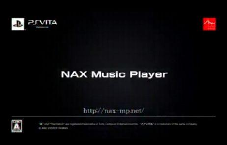 PSVの無料音楽プレイヤー『NAX Music Player』の公式サイトオープン・プロモーションムービー公開