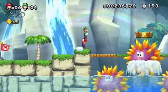 Wii U「NewスーパーマリオブラザーズU」のプレイムービーが公開