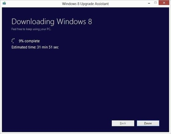 期間限定でWindows XP / Vista / 7 からWindows8にアップデート 39.99ドルでアップグレード可能
