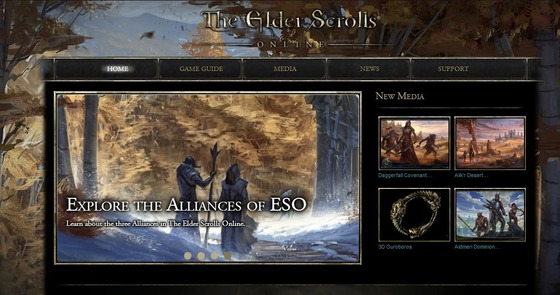 "MMO「The Elder Scrolls Online」トレイラー""Alliances at War "" が公開"