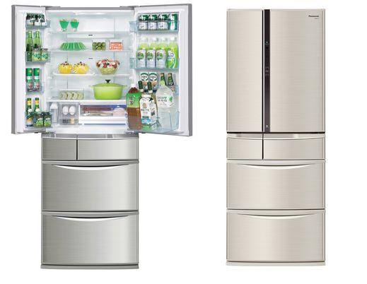 パナソニック最新型冷蔵庫はスマホと連動、中に入っている食材の検索やその食材での作成可能レシピ・ 扉の開閉回数までをスマホから確認可能。