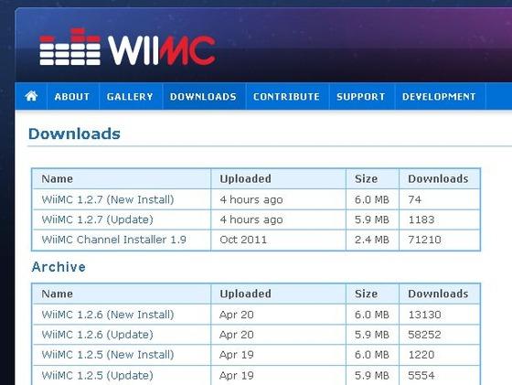 「WiiMC」Wii向けメディアプレイヤーアプリ「Wii Media Centre Ver1.2.7」