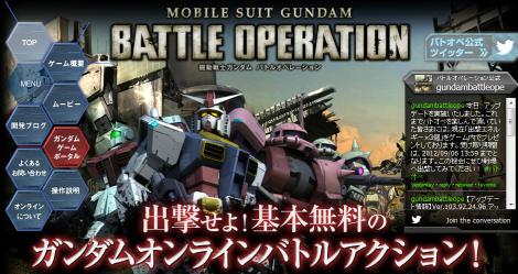 PS3「機動戦士ガンダム バトルオペレーション」 のアップデートが実施。プレイデータのバックアップ機能が実装!