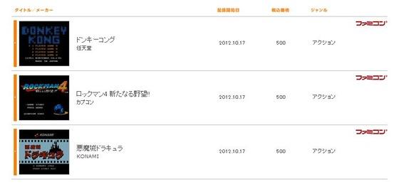 3DSバーチャルコンソールに初代「ドンキーコング」「ロックマン4」「悪魔城ドラキュラ」が追加! 10月17日から配信開始!
