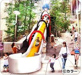「エヴァンゲリオン・綾波レイスライダー」が登場!綾波レイが18.5mもの大きさに。日本テレ夏のイベント「汐博」