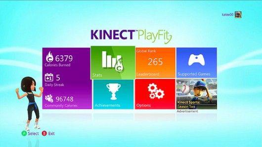 Kinectゲームの消費カロリー数を統計するアプリ  「Kinect PlayFit」が発表。