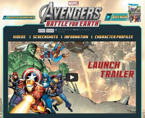 Kinect/Wii U「Marvel Avengers Battle for Earth」海外ローンチトレーラーが公開