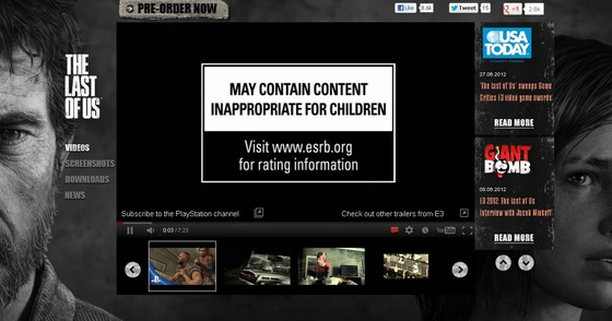 PS3「The Last of Us」 新たなムービーが海外イベントで公開