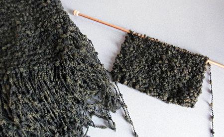 初めて編んだマフラーを作り直し