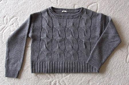 g.u.のクロップドセーター