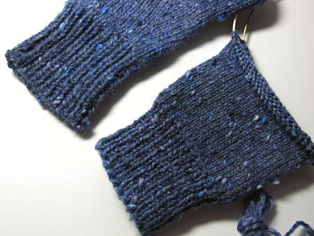 編み直し手袋