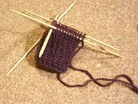 輪編みの練習