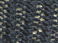 レースっぽいガーター編み