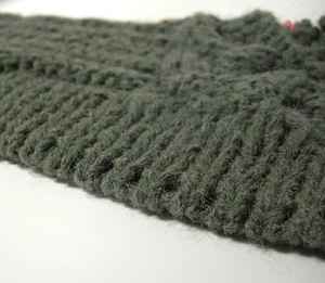 ゴム編みの作り目をしてみたんです。