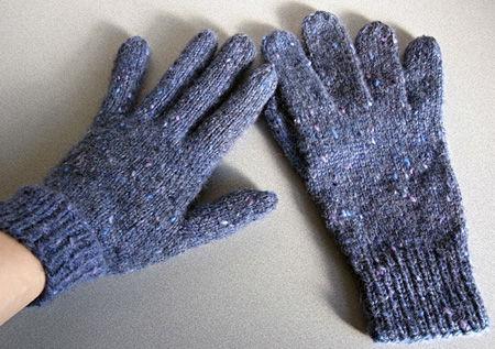 基本の5本指手袋完成