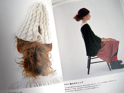 結んだ髪を出せる帽子