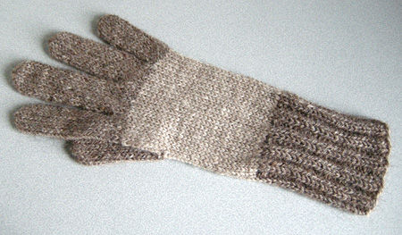 羊色の手袋・右