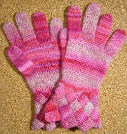 バスケット編みの手袋