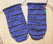 編みかけ靴下