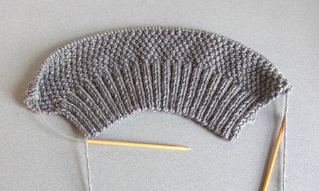ベスト編み始め