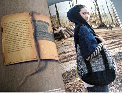 かのこ編みのパーカとトートバッグ