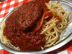 スパゲティーのパンチョ ミートソース ハンバーグ