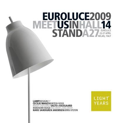 Lightyears invitation - Euroluce 2009