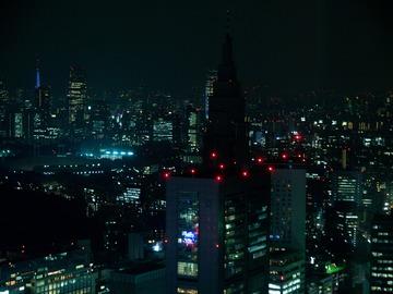 東京タワーを臨む。
