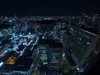 超広角で夜景