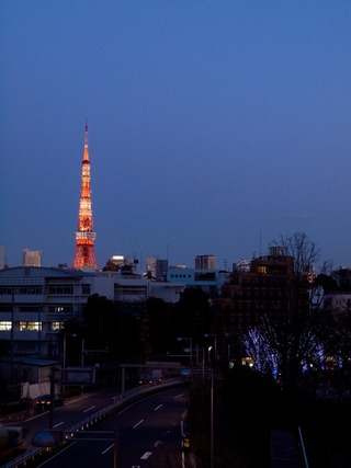 帰り際の東京タワー。
