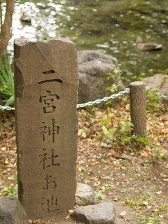 二宮神社の池
