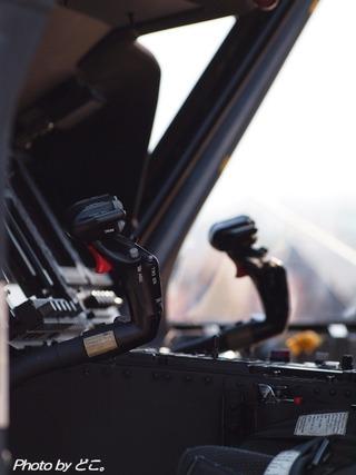 ヘリの操縦桿。