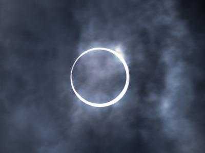 太陽のリング。