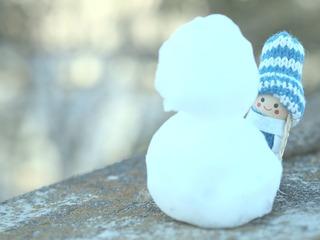 雪だるま作ったよ。