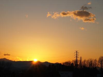 沈みゆく太陽。