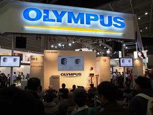 OLYMPUSブース。