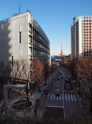 東京タワーを望む。