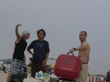 海辺でBBQ