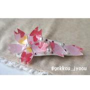 桜バレッタ 白01